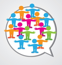 Social media people inner circle speech bubble vector