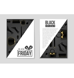 Abstract black friday layout background vector