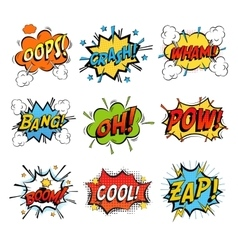 Set of bubble or bubbles speech vector