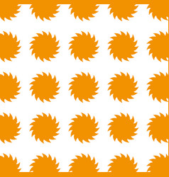 colorful pattern suns shape icon vector image