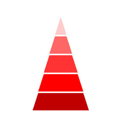 Triangular red indicator vector