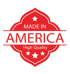 Made in usa label 02 vector