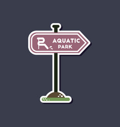Paper sticker on stylish background sign aquatic vector