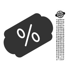 Discount label icon with job bonus vector