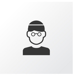 Mullah icon symbol premium quality isolated male vector