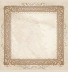 vintage frame ornamental floral background vector image