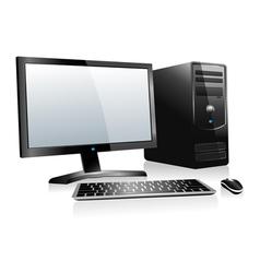 3D Desktop Computer vector image