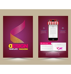Abstract brochure template with smartphones vector