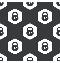 Black hexagon dumbbell pattern vector