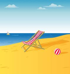 Chair on a beach vector