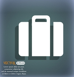 Suitcase icon on the blue-green abstract vector