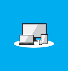 responsive display flat icon vector image