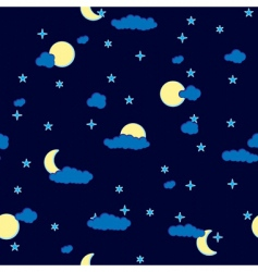 abstract night clouds background seamless vector image