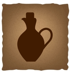 Amphora sign vintage effect vector