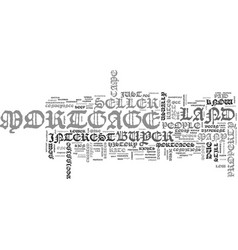 A short history of the mortgage text word cloud vector