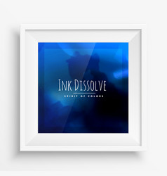 Blue ink poster vector