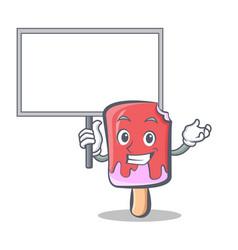 Bring board ice cream character cartoon vector