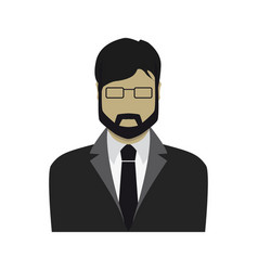businessman in a suit flat design vector image vector image