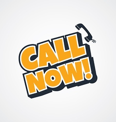 call now sign vector image