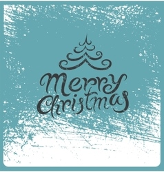 Calligraphic vintage christmas card design vector
