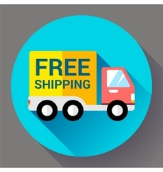 Car Shipping icon Fast and free delivery concept vector image vector image