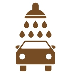 Car Shower Flat Symbol vector image
