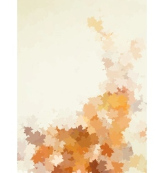 Card on autumn leaves texture EPS 10 vector image