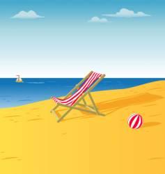 chair on a beach vector image