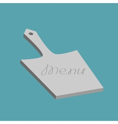 Chef cutting board in flat design style menu cover vector