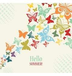 Decorative Vintage Background with Butterflies vector image
