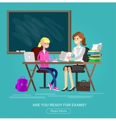 detailed character woman teacher vector image