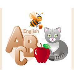 English alphabet abc icon vector