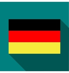 Flag of Germany icon in flat style vector image vector image