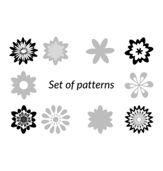 Floral patterns silhouettes vector