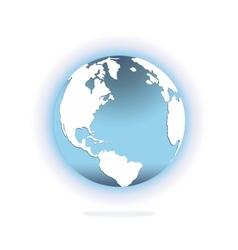 Glossy world globe vector image