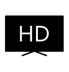 hd television silhouette icon tv video symbol vector image vector image