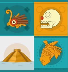 maya icon set design vector image
