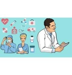 Medicine concept in modern vector image vector image
