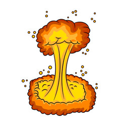 mushroom cloud nuclear explosion symbol icon vector image