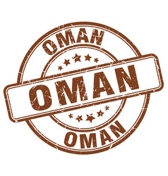 Oman stamp vector
