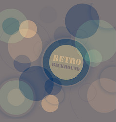Retro background with circular pattern transparent vector