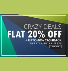 Sale banner voucher design template with offer vector