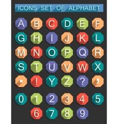 Set Flat Symbols of Alphabet vector image