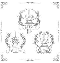 Smithy Vintage Logos vector image vector image