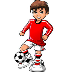 soccer football player teen boy sports clipart vector image vector image