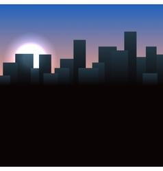 Sunrise Buildings Landscape Urban vector image vector image