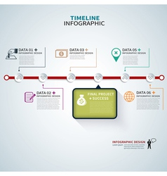 timeline template infographic vector image vector image