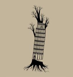 Tree pisa vector