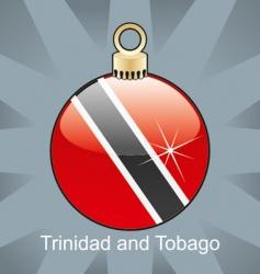 Trinidad Tobago flag on bulb vector image vector image