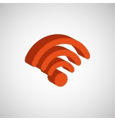 wifi signal isometric design vector image